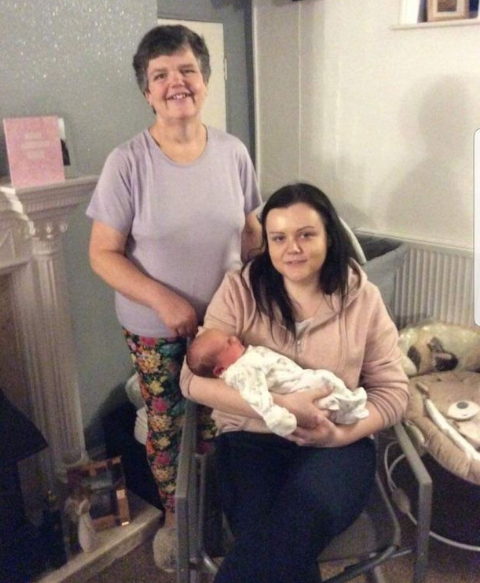 Incredible! 55-year-old woman gives birth to her own