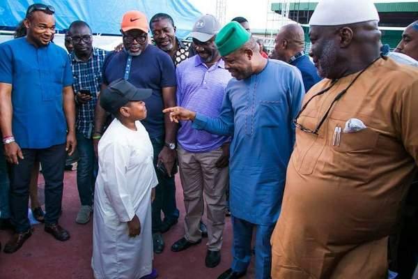 Actors Osita Iheme, Kanayo O Kanayo join Ihedioha to inspect