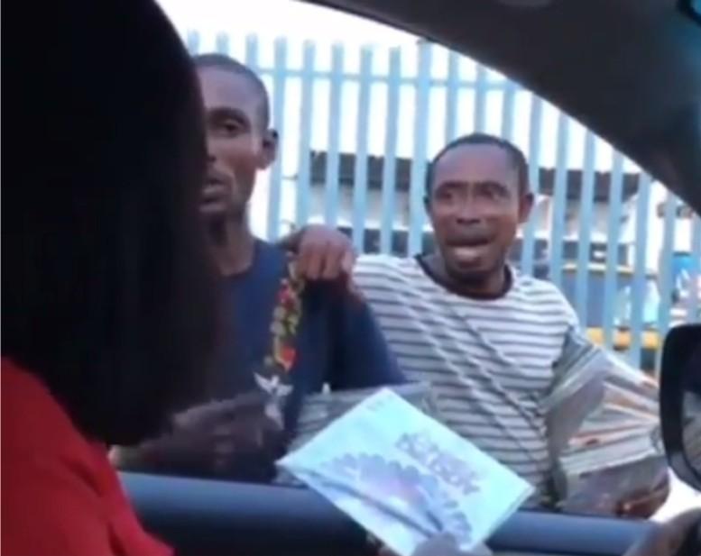 The moment Actress Omoni Oboli caught 2 men selling pirated