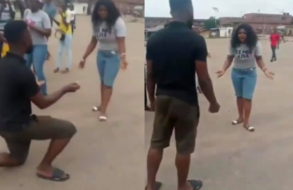 "I am not a woman beater"" – Angry man in viral proposal video"
