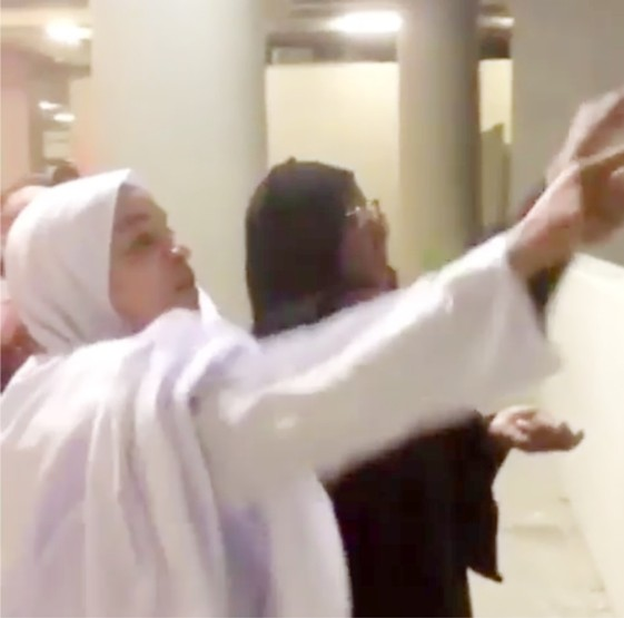 Aisha Buhari filmed