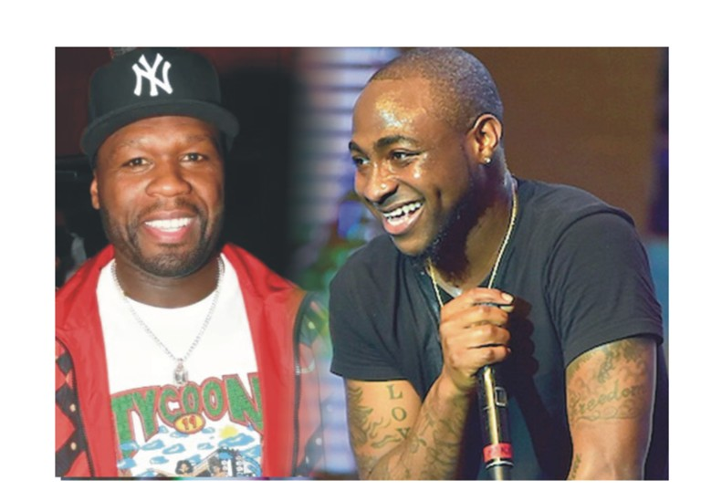 Image result for Davido and 50 cent