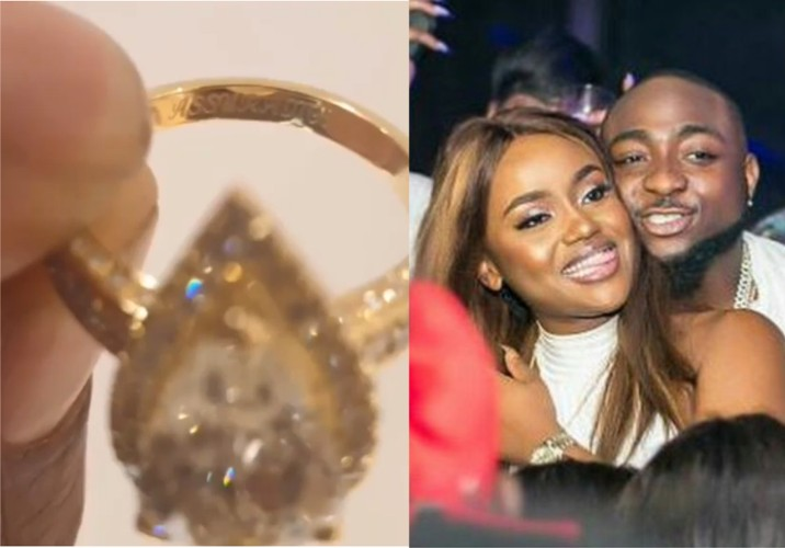 Image result for davido engages chioma