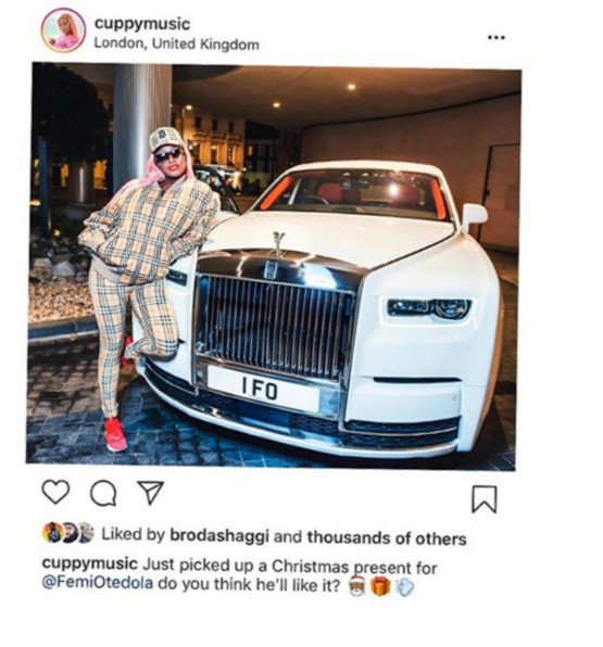 Amazing Christmas Gifts For Her: Amazing: DJ Cuppy Buys Her Dad N181m Roll Royce As