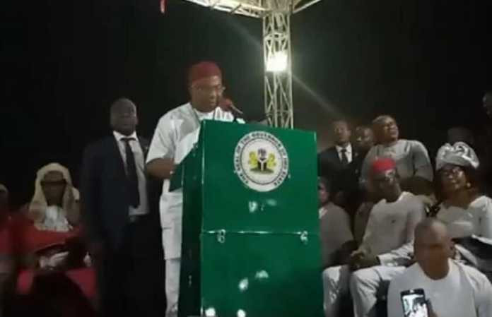 Imo New Governor Sen. Hope Uzodinma Makes first Official Pronouncement.