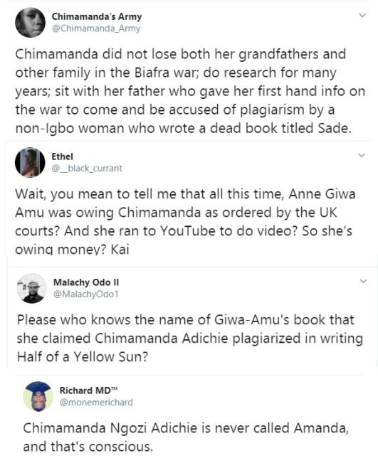Chimamandas Agency Responds To Plagiarism Claims On Half