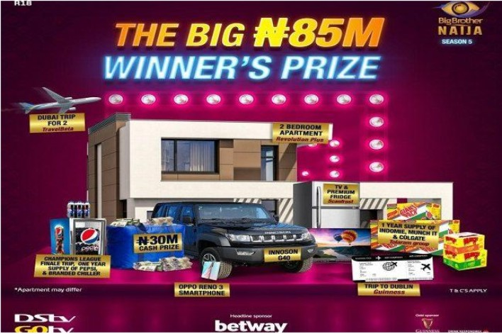 BBNaija Season Five Grand Prize