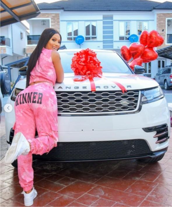 Mercy Eke buys Range Rover for Birthday