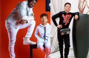 Peter celebrates son Cameron Okoye on birthday