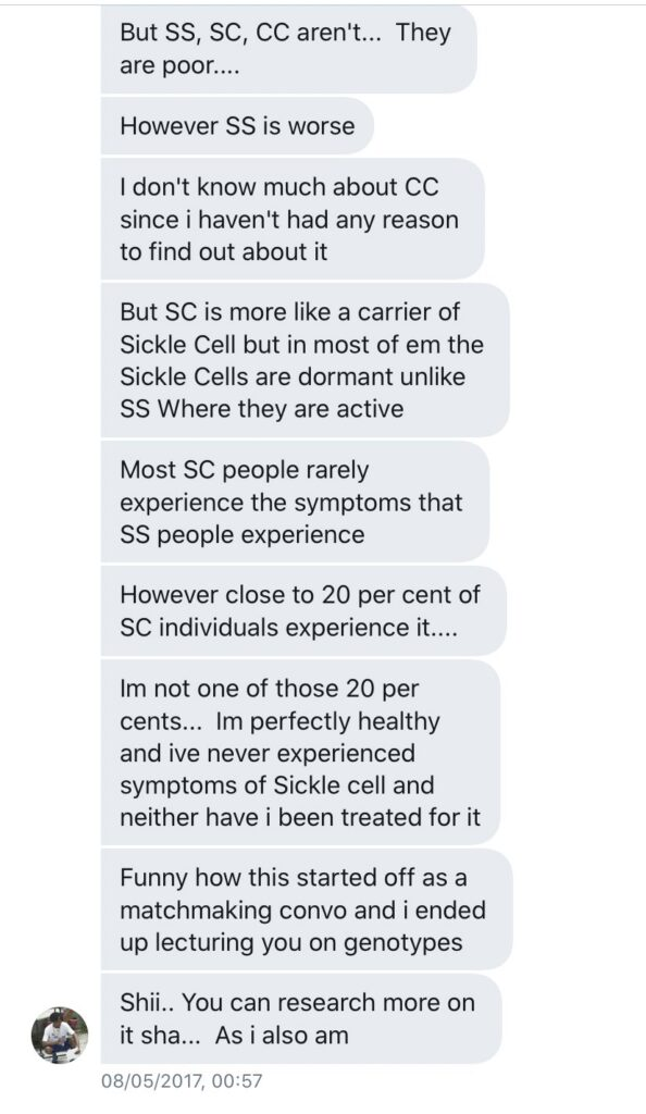Laycon has sickle cell genotype