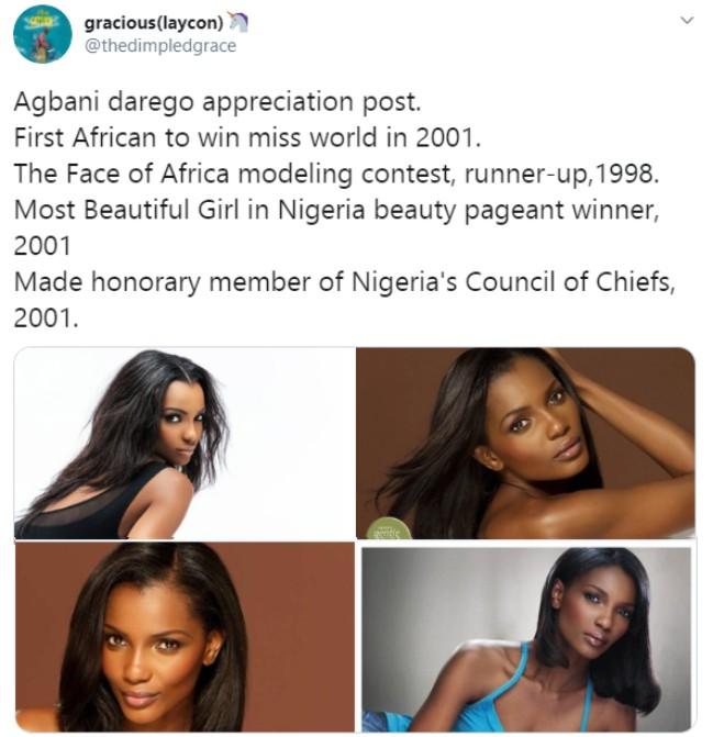 Nigerians drag Google over Agbani Darego
