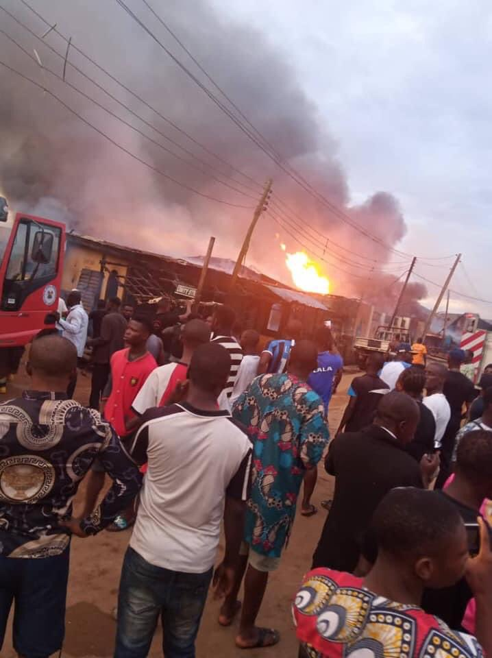 Gas Explosion in Baruwa Lagos
