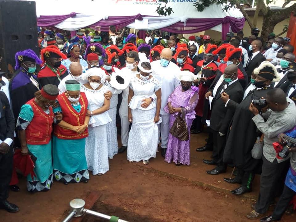 Chimamanda Adichie at father funeral
