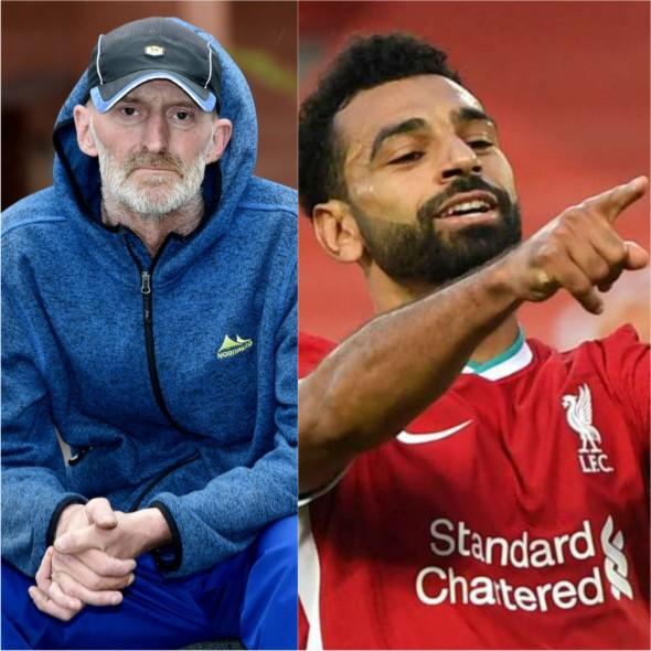 Mo Salah helps homeless man