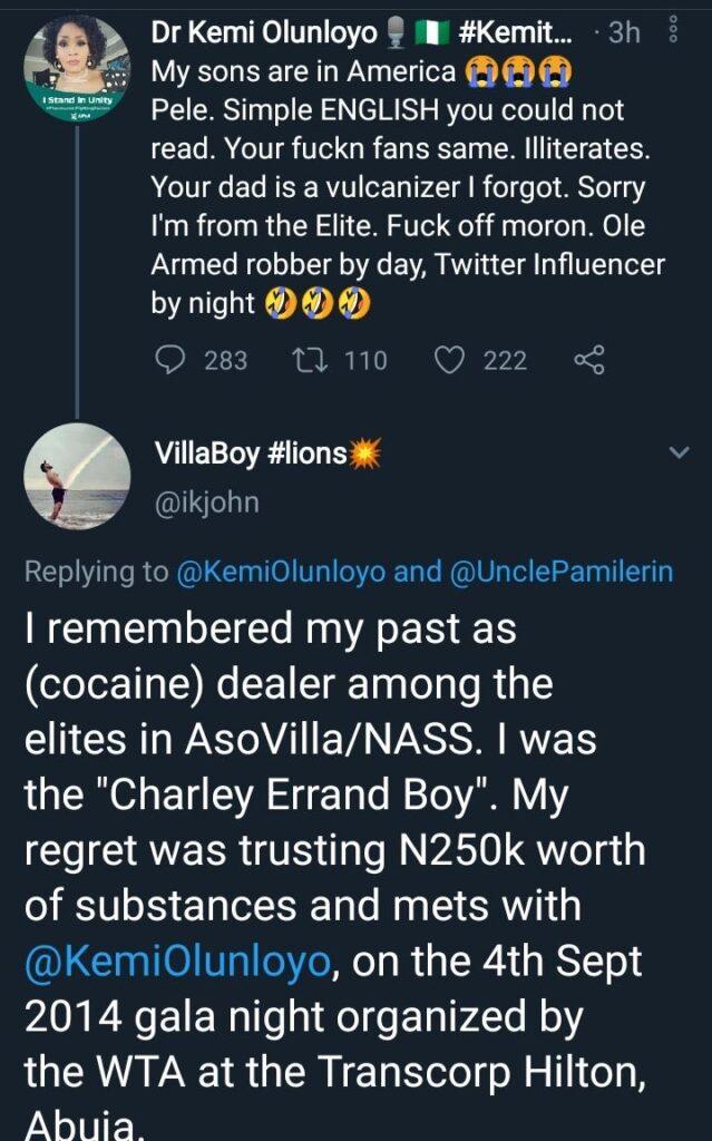 Kemi Olunloyo accused of stealing hard drugs