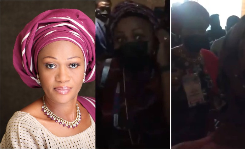 Sen. Remi Tinubu in heated argument with woman whom she called a thug (video) - Expressive Info